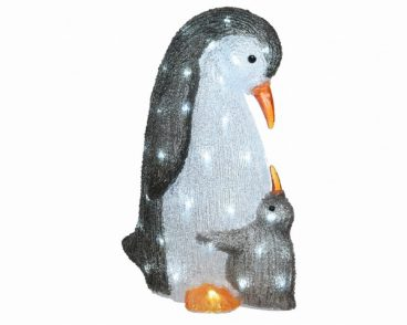 ACRYLIC PENGUIN WITH BABY