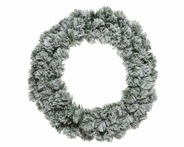 Green/White Snowy Imperial Wreath 50cm