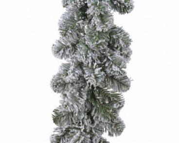 Green/White Snowy Imperial Garland 270 x 20cm