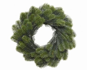 PE Green Wreath 50cm