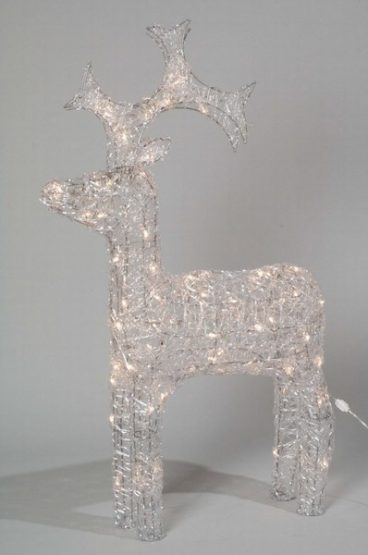 ACRYLIC DEER WARM WHITE 90CM