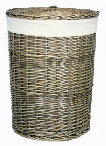 ANTIQUE LAUNDRY BASKET LARGE