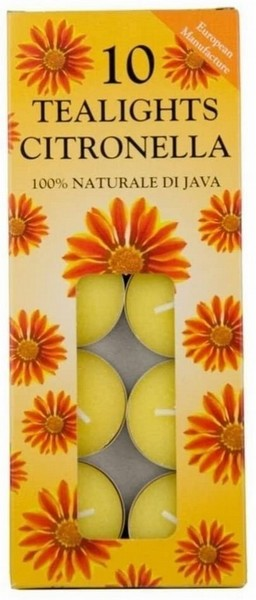 Citronella Tealights – Pack of 10
