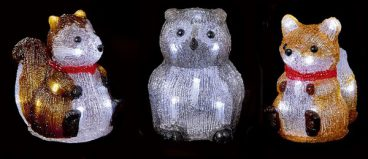 ACRYLIC LED COUNTRY ANIMALS 15CM