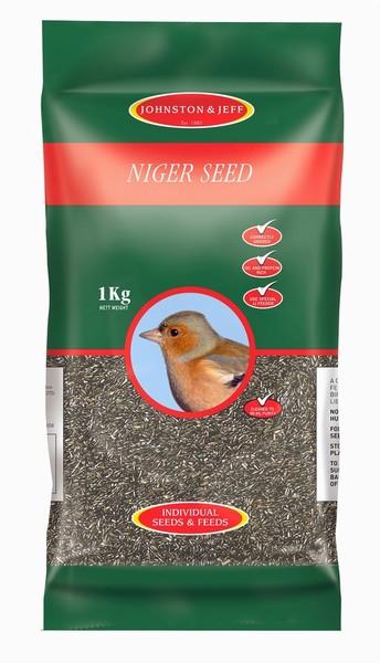 BIRD FEED NYGER SEED 1KG J&J