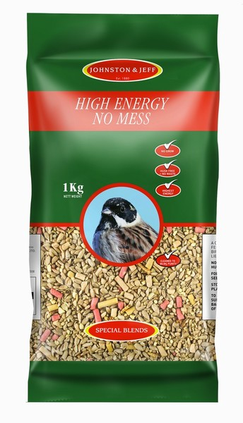 BIRD FEED HIGH ENERGY SEED 1KG J&J (NO MESS)