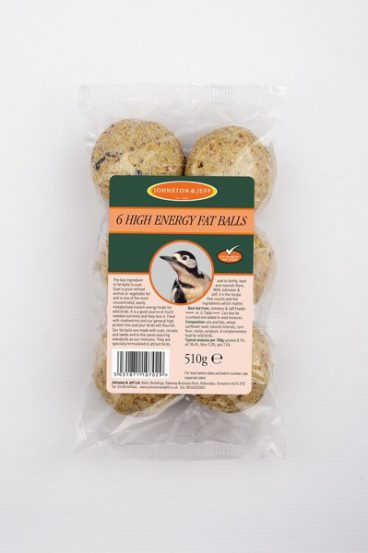 BIRD FEED FAT BALLS PK6 J&J