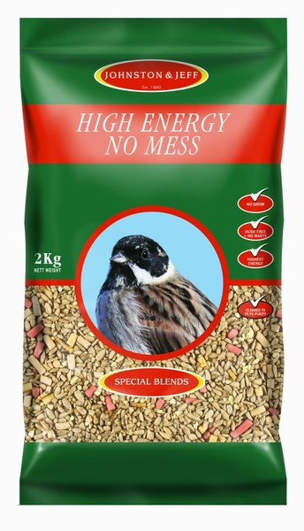 BIRD FEED HIGH ENERGY SEED 2KG J&J (NO MESS)