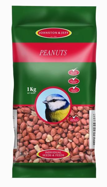 BIRD FEED PEANUTS 1KG J&J