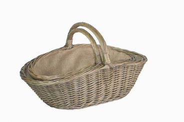ANTIQUE WASH HARVESTING BASKET LARGE