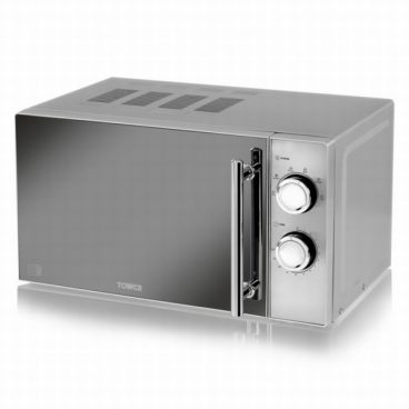 MICROWAVE TOWER MANUAL SILVER 800W 20L (MIRRORED)