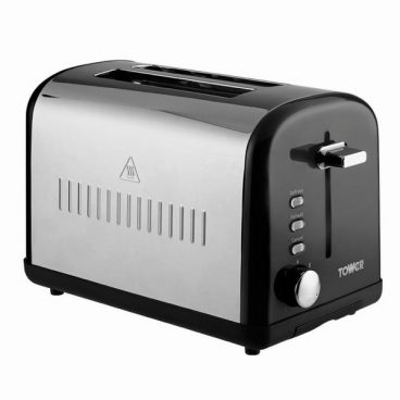 Infinity 2 Slice Stainless Steel Toaster Black
