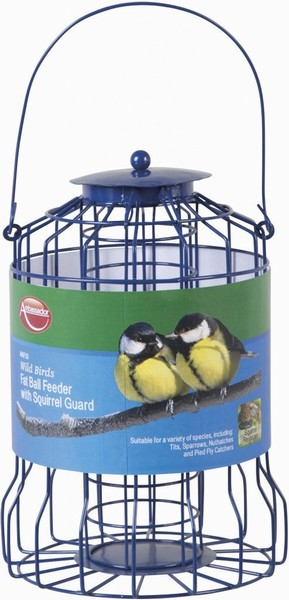 Ambassador Wild Birds Fat Ball Feeder With Squirrel Guard