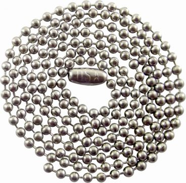 CHAIN BALL 3.2MM (NO.6) BRASS CHROME (PER METER)