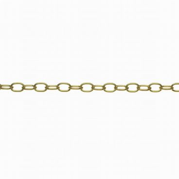 CHAIN OVAL BRASS 1/2IN (PER METER)