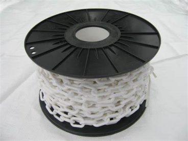 CHAIN PLASTIC LINK WHITE 6X50MM (PER METER)