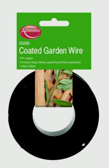 GARDEN WIRE GREEN PVC COATED 1.2MM 100M SUPA SGS45