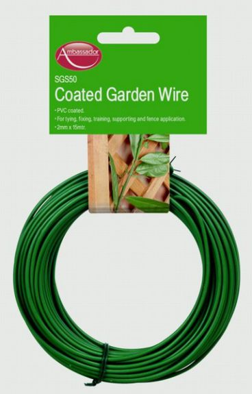 GARDEN WIRE GREEN PVC COATED 2MM X 30M SUPA SGS55