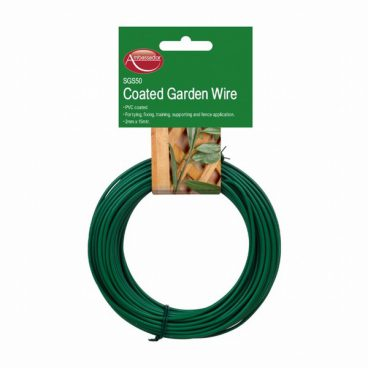 GARDEN WIRE GREEN PVC COATED 2MM X15M SGS50