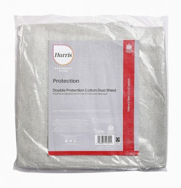 HARRIS SER GOOD COT RICH DUST SHEET 3.6M X 3.6M