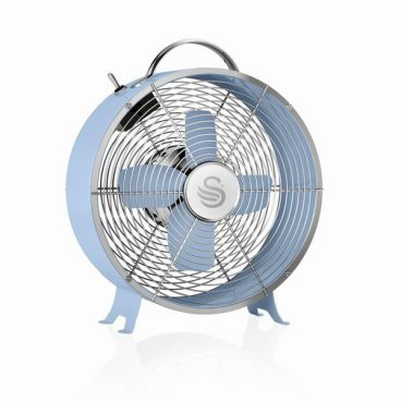 RETRO BLUE DESK FAN 8IN SWAN