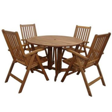 Henley Dining Set 4 Recliner Chairs 1 Table