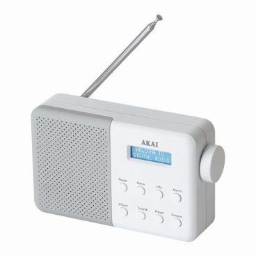 AKAI DAB RADIO WHITE/GREY
