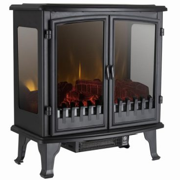 Carlisle 1.8KW 2-Door Electric Stove with Panoramic Window in Bl