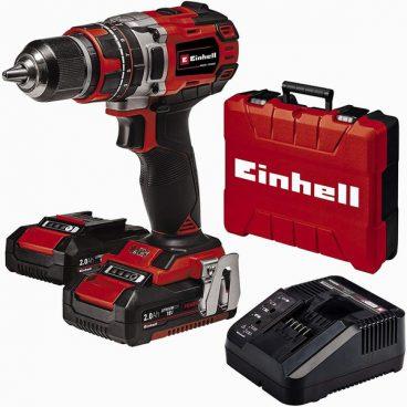 EINHELL CORDLESS BRUSHLESS COMBI DRILL 18V (2 x 2Ah)