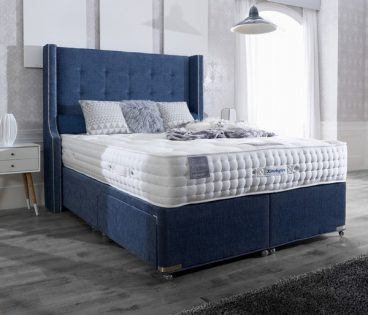 KENSINGTON DOUBLE MATTRESS,2 DRAWER BASE, REGAL HEADBOARD