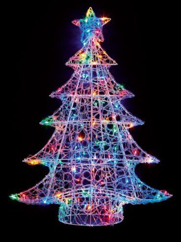 ACRYLIC XMAS TREE 120 MULTI LED