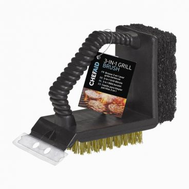 BBQ TOOL GRILL BRUSH 3 IN 1