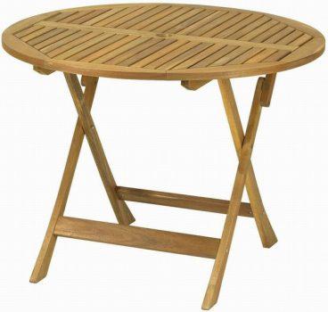 A.MIR MANHATTAN ACACIA TABLE ROUND 1M