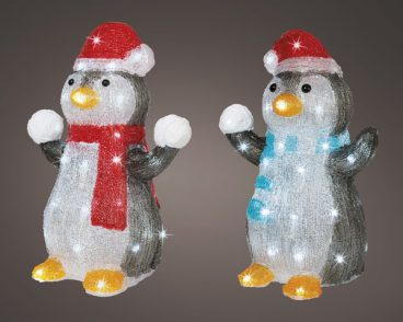 ACRYLIC PENGUIN WITH SNOWBALLS
