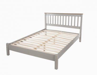 Corona Grey Double Low End Bed