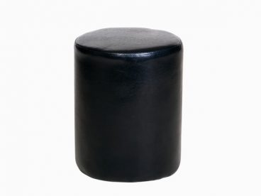 Faux Leather Black Stool