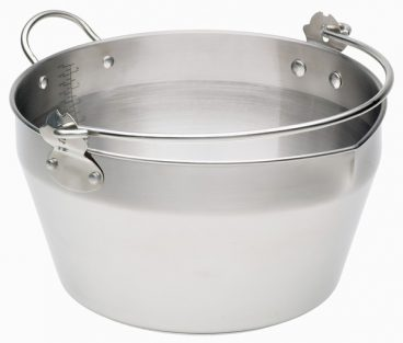 Home Made Stainless Steel 9 Litre Maslin Pan with Handle