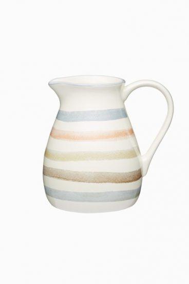 Classic Collection Striped Ceramic Milk Jug