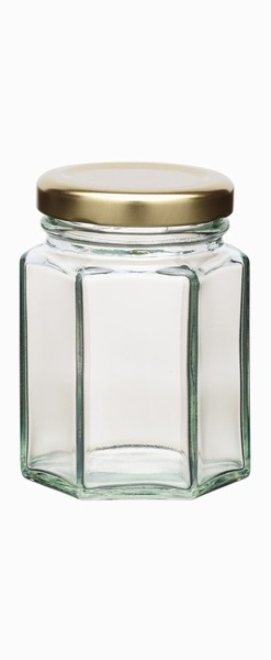Home Made 110ml Hexagonal Jar with Twist-off Lid