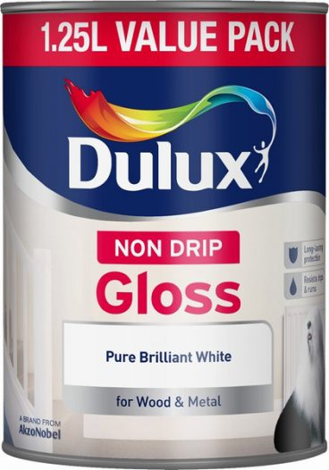 Dulux Non-Drip Gloss Paint – Pure Brilliant White 1.25L