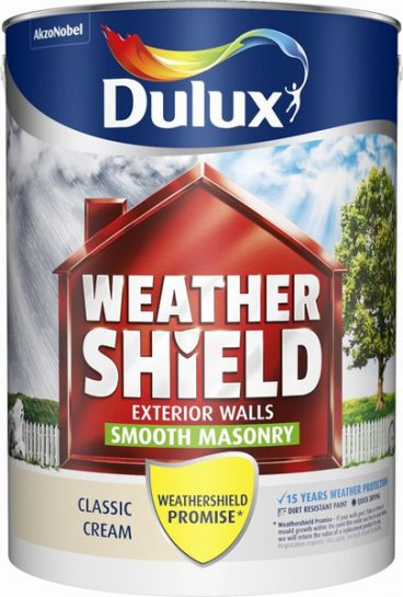 Dulux Weathershield Masonry Paint Smooth – Classic Cream 5L