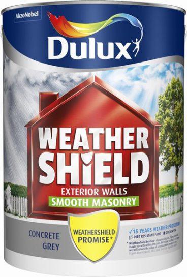 Dulux Weathershield Masonry Paint Smooth – Concrete Grey 5L