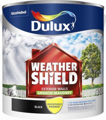 Dulux Weathershield Masonry Paint Smooth – Black 2.5L
