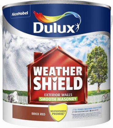 Dulux Weathershield Masonry Paint Smooth – Brick Red 2.5L