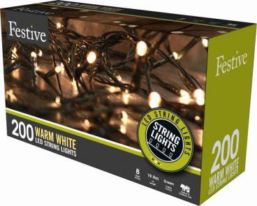 Chaser Christmas Lights – 200 LED – Warm White