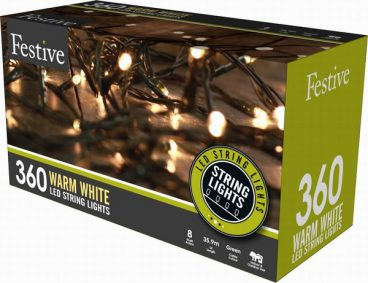 Chaser Christmas Lights – 360 LED – Warm White