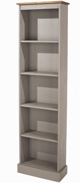 Corona Grey Narrow Bookcase