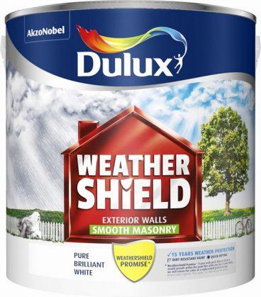 Dulux Weathershield Masonry Paint Smooth – Brilliant White 2.5L