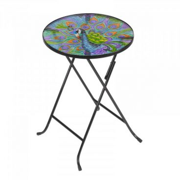 Bistro Glass Table – Peacock