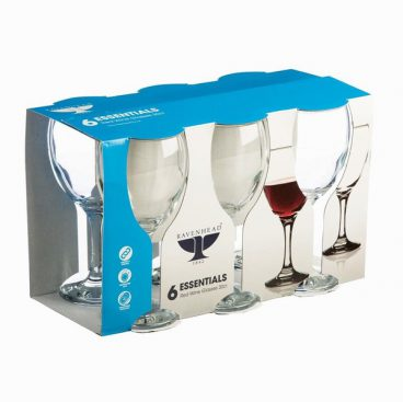 RAVENHEAD ESSENTIAL RED WINE GLASSES PK6